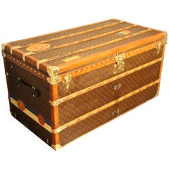 1930s Monogram Louis Vuitton Trunk, Louis Vuitton Steamer Trunk,Louis Vuitton
