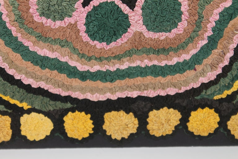 1930s Monumental Hand Hook Mounted Rug For Sale 2