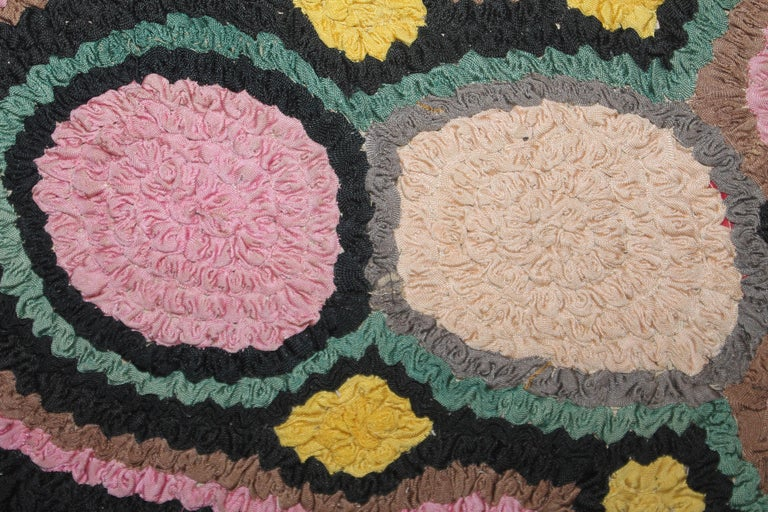 1930s Monumental Hand Hook Mounted Rug For Sale 1