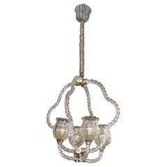 1930s Murano Glass Chandelier by Ercole Barovier