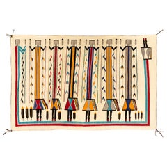 1930s Navajo Yei Pictorial Floor or Wall Weaving