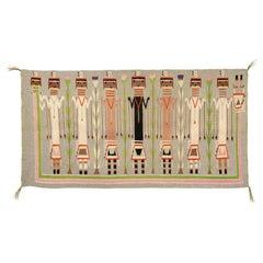 1930s Navajo Yei Pictorial Floor or Wall Weaving
