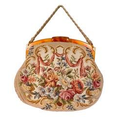 1930s Needle Point Handbag