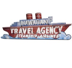 1930s Neon Sign - Ocean Liner - Travel Agency