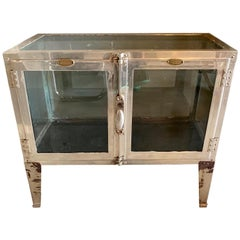 1930s Nickel Tabletop Vitrine