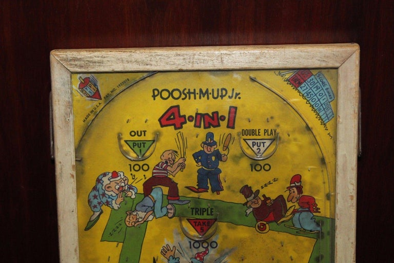 Awesome 1930S Northwestern Poosh M Up Jr Baseball Tabletop Pinball Game Interior Design Ideas Gentotryabchikinfo