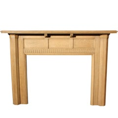 1930s Oak Fire Surround Made by Waring and Gillow