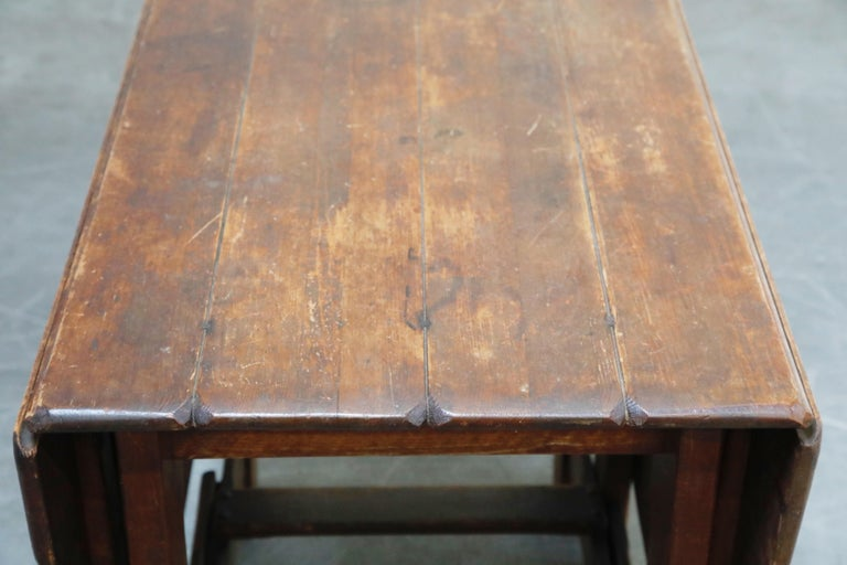 1930s Old Hickory Branded Drop-Leaf Farm Table or Kitchen Island, Signed 11