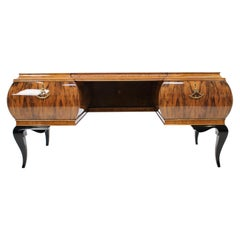 1930s Opulent Art Deco Free Standing Writing Desk