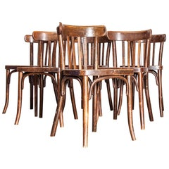 1930s Original Marked Thonet Bentwood Dining Chairs, Set of Six