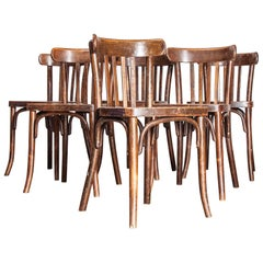 1930s Original Marked Thonet Bentwood Dining Chairs, Set of Twelve