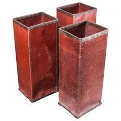 1930s Original Suroy Tall Industrial Storage Boxes