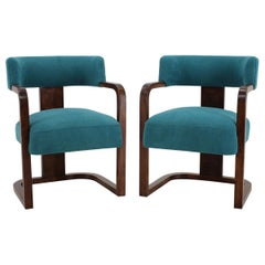 1930s Pair of Art Deco Armchairs, Czechoslovakia