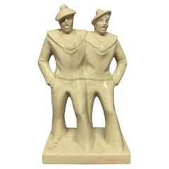 1930's Pair of Ceramic Sailors