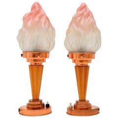 1930s Pair of Original Art Deco Table Lamps