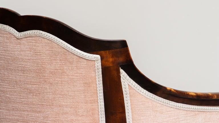 1930s Pair Scandinavian Velvet Art Nouveau Easy / Armchairs after Fritz Hennings 6