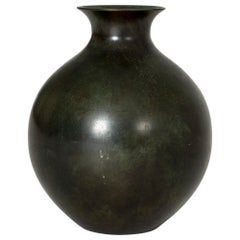 1930s Patinated Bronze Vase from GAB