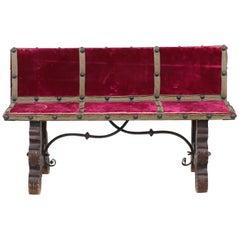 1930s Petite Spanish Baroque Bench