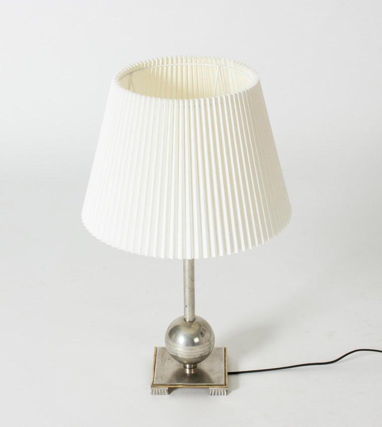 Scandinavian Modern 1930s Pewter Table Lamp by Einar Bäckström For Sale