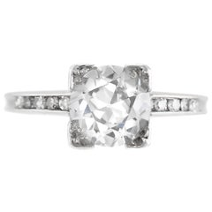 1930s Plat Engagement Ring with 1.07 Carat D VS2