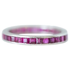 1930s Platinum and Ruby Eternity Band