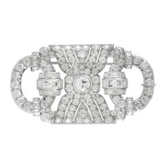 1930s Platinum Brooch with Diamonds