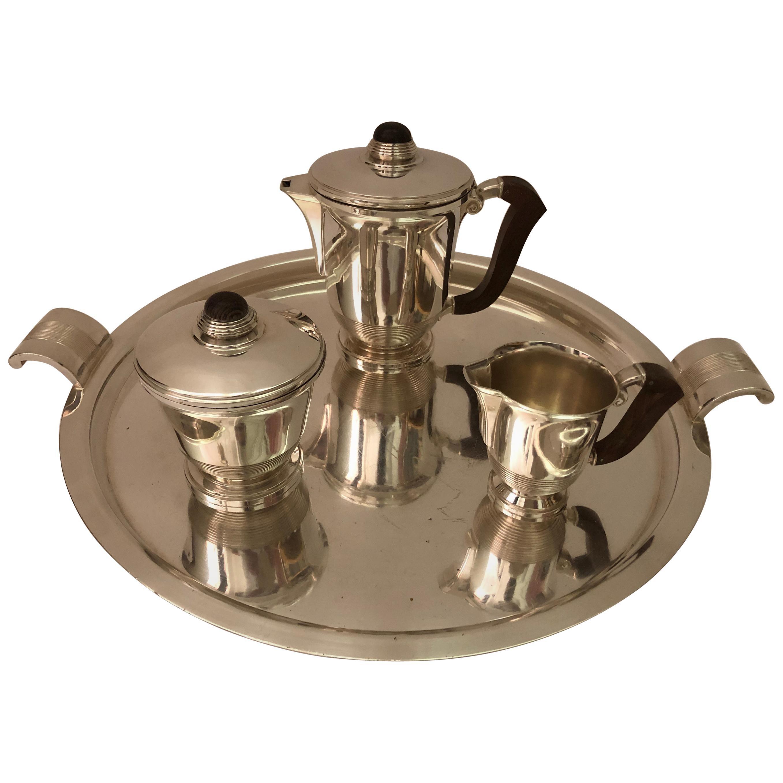1930s Polished Silver Tea/Coffee Set