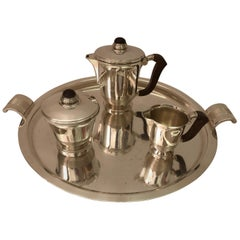 1930s Polished Silver Tea/Coffee Set