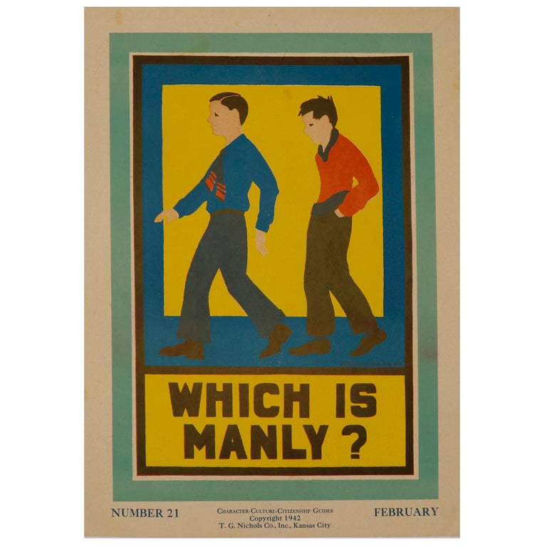 """1930s Posters """"Character, Culture and Citizenship Guides"""" For Sale"""