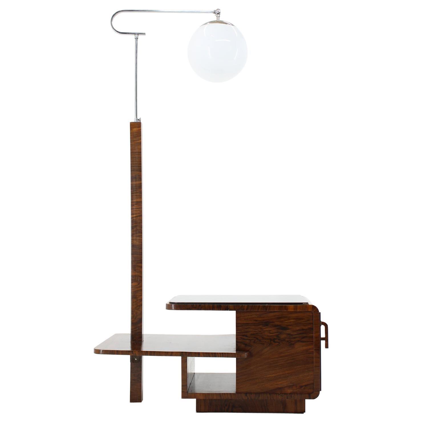 1930s Rare Art Deco Floor Lamp, Czechoslovakia