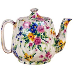 1930s Royal Winton Little Teapot Queen Anne Needlepoint Pattern Made in England