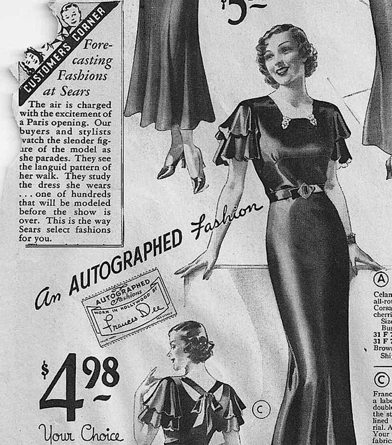 1930's Sears Autographed Fashions Hand-Painted Gold Snake Black Velvet Gown    9