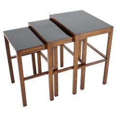 1930s Set of Three Bauhaus Nesting Tables H-50 by Jindrich Halabala