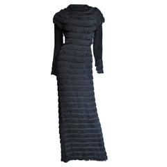 1930s Silk Fringe Gown