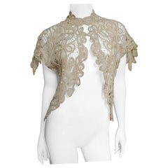 1930s Silk Guipure Lace Bolero Shrug