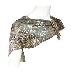 1930s Silver Sequin Capelet