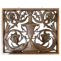 1930s Singe Cast Bronze Panels Featuring Rams and Dolphins