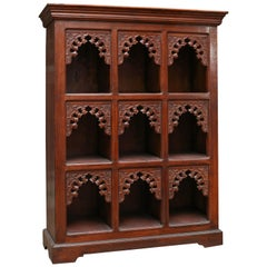 1930s Solid Teak Wood Children Bookcase from a Montessorie School in Darjeeling