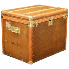 "1930s Steamer Trunk Monogram from ""Aux Etats-Unis"""