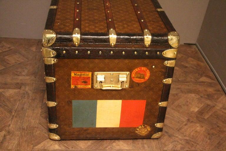 1930s Stenciled Monogram Louis Vuitton Trunk, Malle Louis Vuitton For Sale 5