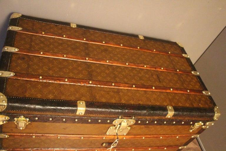 1930s Stenciled Monogram Louis Vuitton Trunk, Malle Louis Vuitton For Sale 7