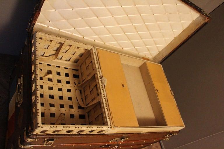 1930s Stenciled Monogram Louis Vuitton Trunk, Malle Louis Vuitton For Sale 10