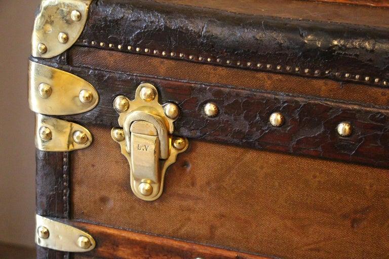 1930s Stenciled Monogram Louis Vuitton Trunk, Malle Louis Vuitton For Sale 1