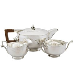 1930s Sterling Silver Three-Piece Tea Service