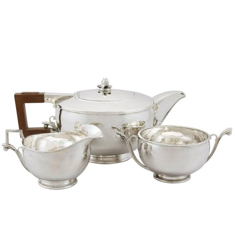 1930s Sterling Silver Three-Piece Tea Service