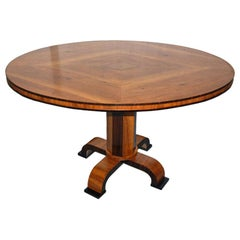 1930's Swedish Oval Pedestal Table