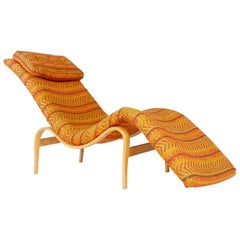 1930s Swedish Upholstered Chaise Lounge by Bruno Mathsson for Karl Mathsson