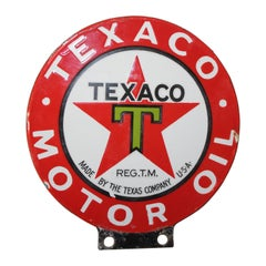 1930s Texaco Motor Oil Paddle Mini Sign