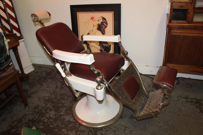 1930s Theo A. Kochs Antique Barber Chair For Sale At 1stdibs