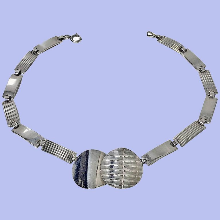 Women's 1930s Theodor Fahrner Art Deco Sterling Silver Necklace For Sale